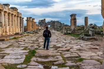 Ruinen der antiken Stadt Hierapolis