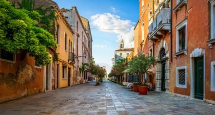 Strasse in Venedig