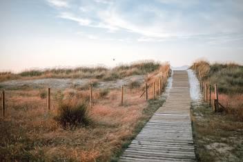Dünen am Vao Strand in Vigo