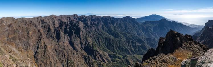 Felsmassiv auf La Palma