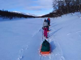 Schneeschuhtour in einem der entlegensten Gebiete Lapplands