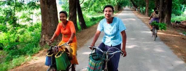 Mit dem Fahrrad durch Myanmar