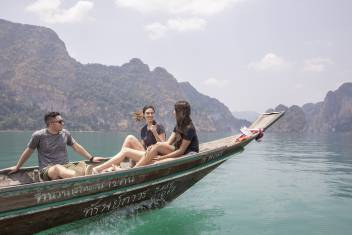 Khao Sok Cheow Lan Lake Longtail Boat