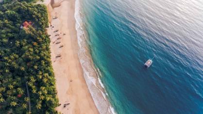 Segeln an der Südküste von Sri Lanka