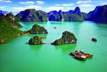 Bootstour in der Halong Bucht in Vietnam