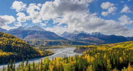Weite einsame Landschaft in Alaska