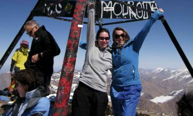 Mount Toubkal auf dem Gipfel