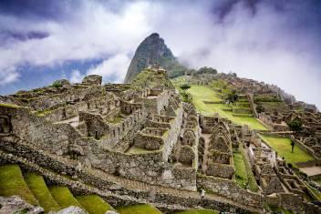 Machu Picchu in Wolken