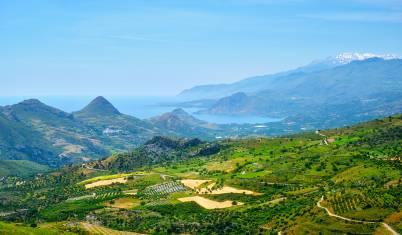 Panoramablick über Landschaft von Kreta