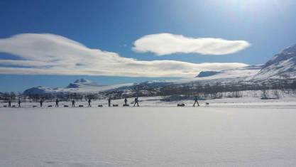 Huskytrekking Auf Schneeschuhen Lappland entdecken