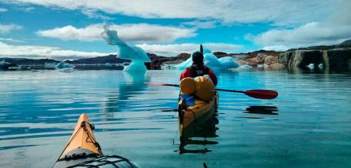 Kajak und Gletscherwanderung in Grönland