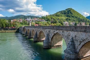Brücke über die Drina in Visegrad