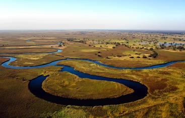 Okavango Delta aus der Luft