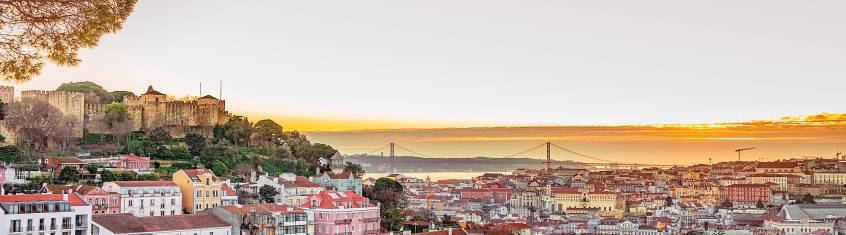 Die Festung von Saint George in Lissabon