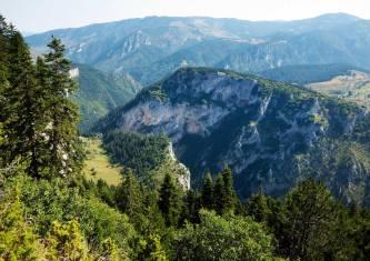 Berglandschaft in den Rhodopen