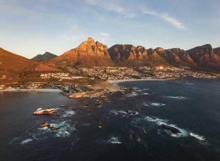 Panorama von Kapstadt vom Meer