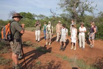 Buschwanderung in Südafrika