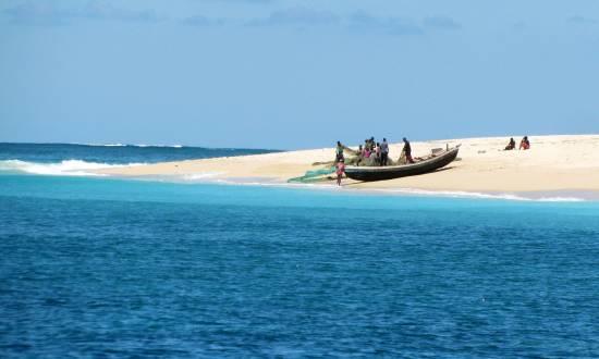 Traumhafter Strand von Mosambik.