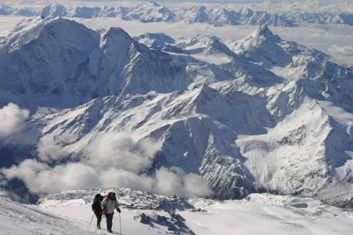 Besteigung Elbrus - auf dem Weg zum Gipfel