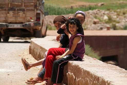 Kinder in Marrakesch.