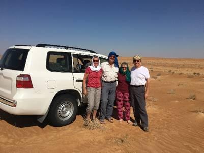 Im 4x4 durch Omans Wüsten.