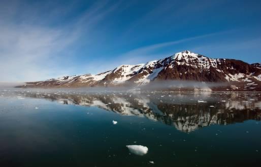 Ursprüngliche Landschaft auf Spitzbergen