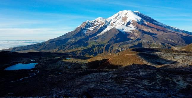 Blick auf den Vulkan Chimborazo