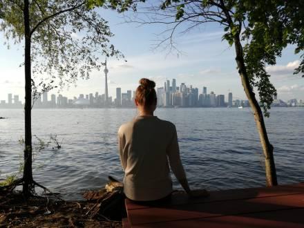 Schöne Aussicht auf Toronto