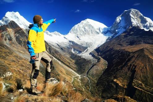 Bergsteiger in Peru