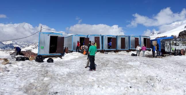Hütten am Elbrus