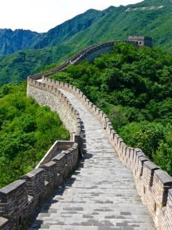 Ein Teilstück der Chinesischen Mauer