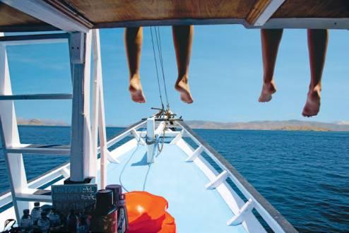 Per Boot auf dem Weg nach Komodo