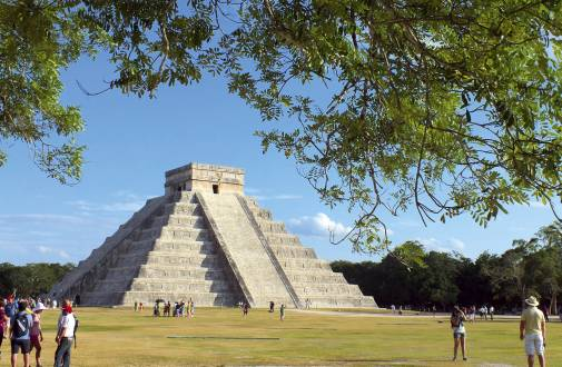Die Pyramiden von Chichen Itza.