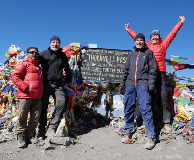 Annapurna Umrundung - Gruppe auf dem Thorong La Pass