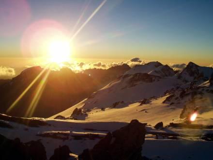 Berg- und Eislandschaften des Aconcagua.